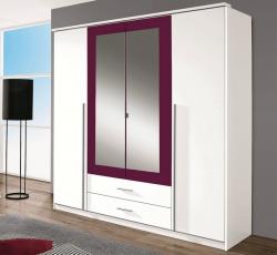 Krefeld, 181 cm, biela/fialová