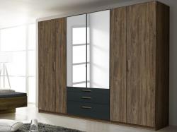 Mosbach, dub stirling/šedá, otočné dvere