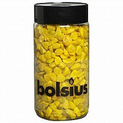 Bolsius Dekoračné kamienky 13 mm žltá, 550 g
