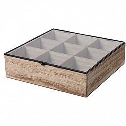 Box na čajové vrecúška, 24,5 x 24 x 6,5 cm