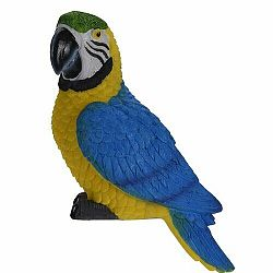 Dekoračný papagáj Ara ararauna, 7 x 10 x 18 cm