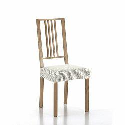 Forbyt Multielastický poťah na sedák na stoličku Sada ecru, 40 - 50 cm, sada 2 ks