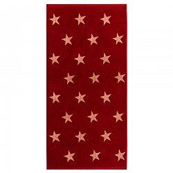 JAHU Osuška Stars červená, 70 x 140 cm