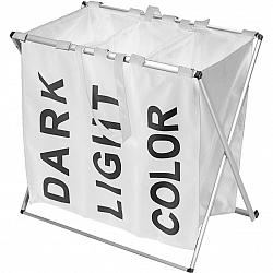 Kôš na bielizeň, 61 x 35 x 60 cm, biela
