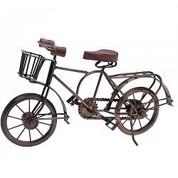 Kovová dekorácia Bicyclette hnedá, 36 x 11 x 20 cm