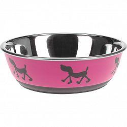 Miska pre psa Doggie treat ružová, pr. 17,5 cm