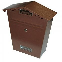 Poštová schránka so strieškou, hnedá