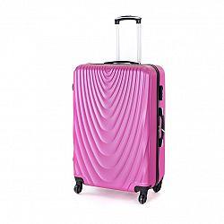 Pretty UP Cestovný škrupinový kufor ABS07 L, fialová