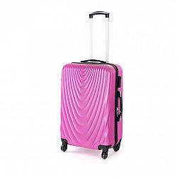 Pretty UP Cestovný škrupinový kufor ABS07 M, fialová
