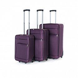 Pretty UP Sada cestovných textilných kufrov TEX01 3 ks, fialová