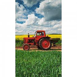 Tiptrade Detský uterák Červený Traktor, 30 x 50 cm