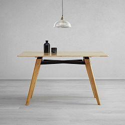 Jedálenský Stôl Piet Pravé Drevo 135x80 Cm