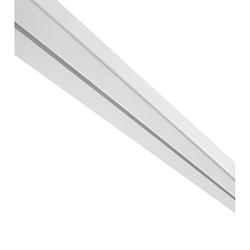 Záclonové Koľajničky Amelie, 250cm, Biela